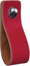 NiiNiiX Leren handgreep Fuchsia - 3 - Maat S 3,0 x 15 cm