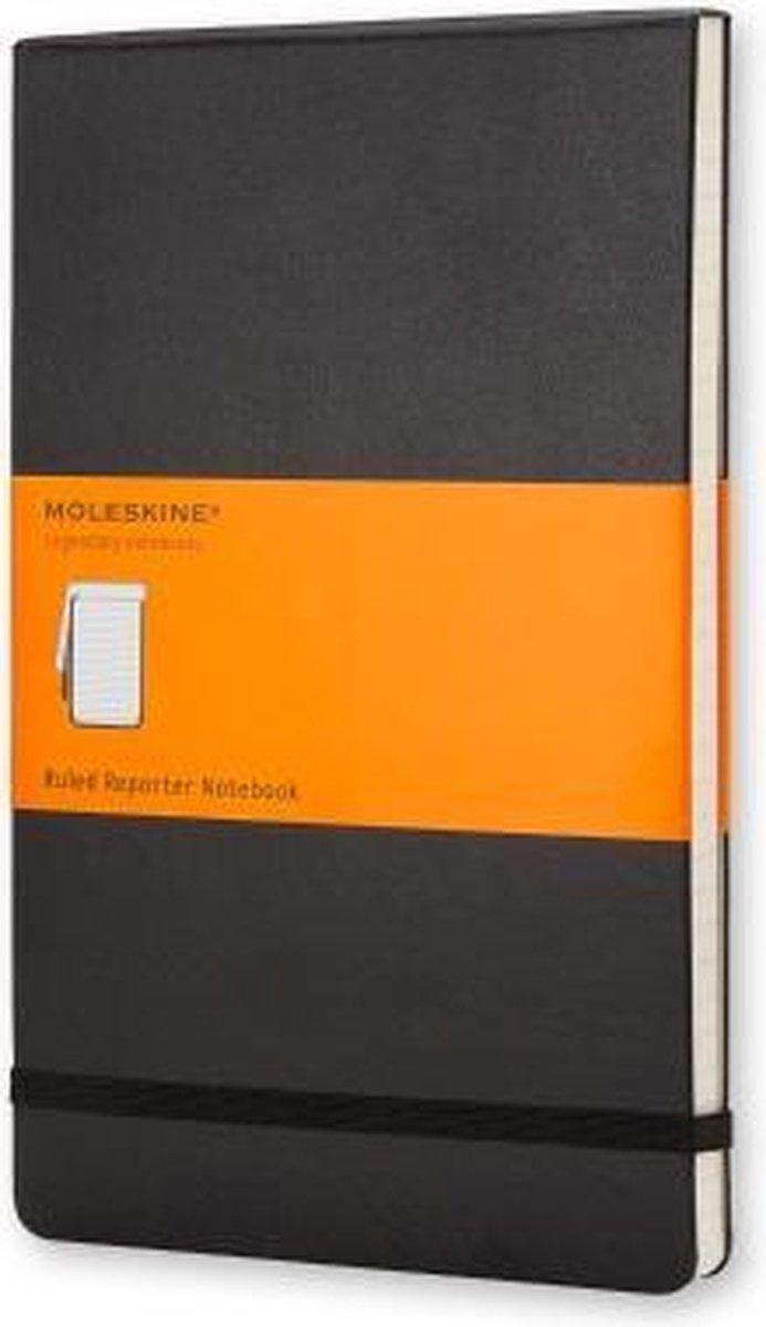 Moleskine Reporter Notebook - Large - Ruled - Hard Cover - Black