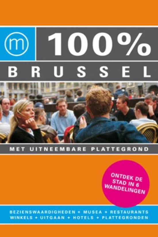 Cover van het boek '100% Brussel' van P.B. van Wiechen