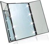 Kleine Draagbare LED Make-up Spiegel met verlichting! - 8 Led lichtjes - Voordeligste keus