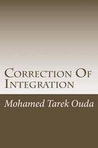 Correction of Integration