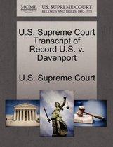 U.S. Supreme Court Transcript of Record U.S. V. Davenport