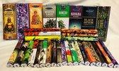 """Wierook Satya 25 pakjes x20 =500 stokjes van verschillender geur wierook van de beste wierookfabriek """"Satya Nagchampa"""""""