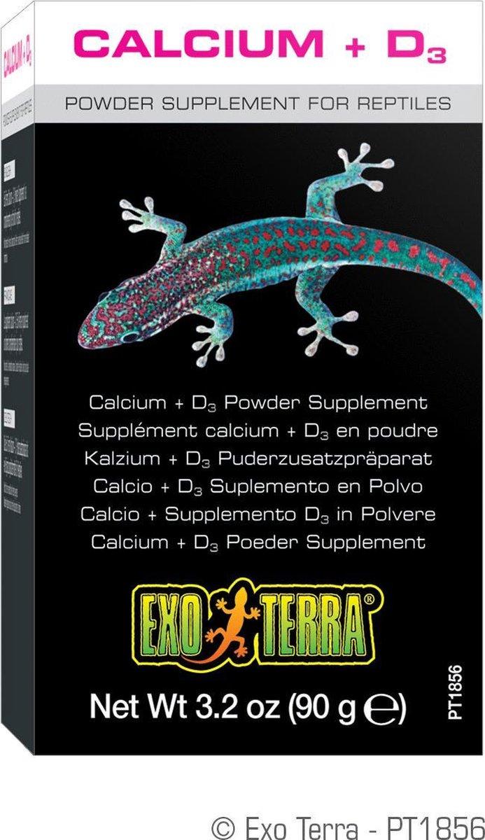 Exo Terra Calcium + Vitamine D3 - Reptielenvoer - 90gr