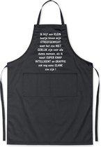 Mijncadeautje Schort - Boven mijn streefgewicht - Mooie - grappige - leuke Keukenschort - Zwart