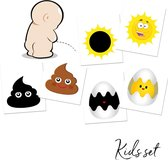 Zindelijkheidstraining Stickers Kind - 3 Stickers