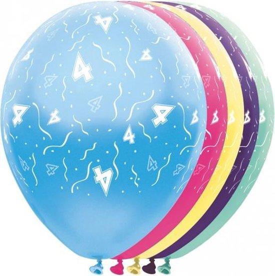 Helium leeftijd ballonnen 4 jaar