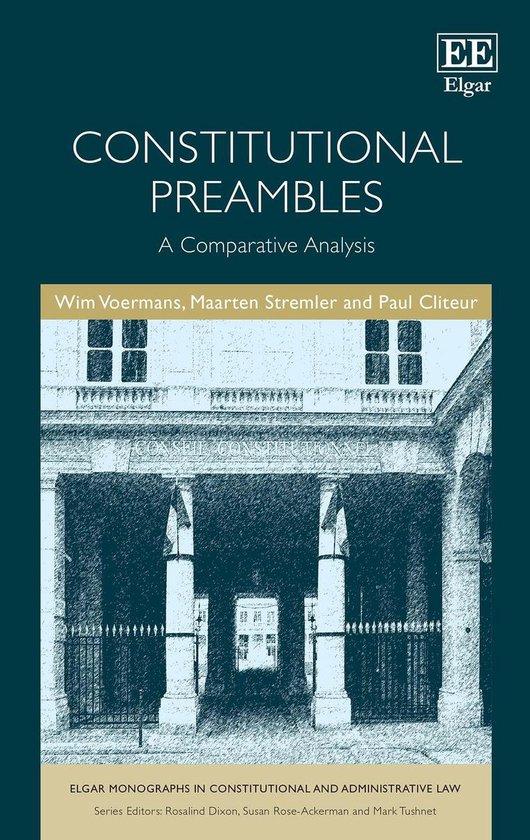 Boek cover Constitutional Preambles van Wim Voermans (Onbekend)