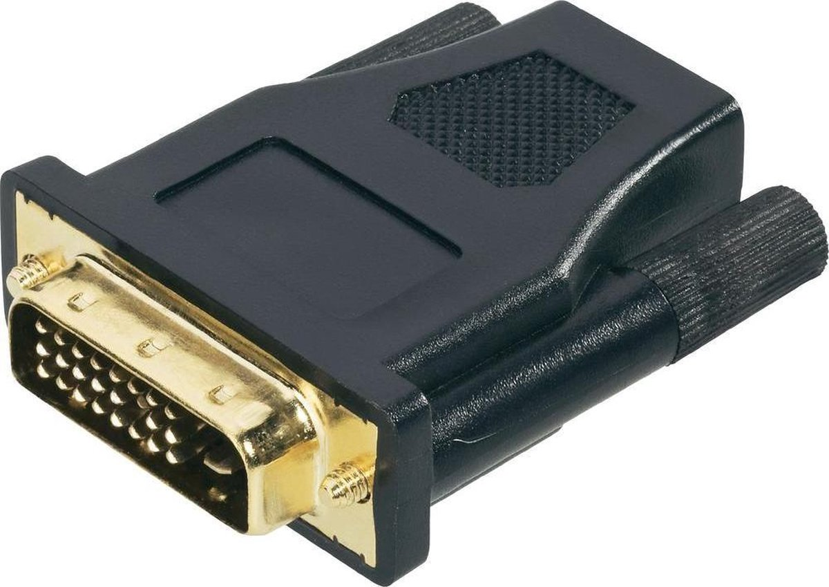 HDMI / DVI Adapter [1x HDMI-bus - 1x DVI-stekker 24+1-polig] Zwart