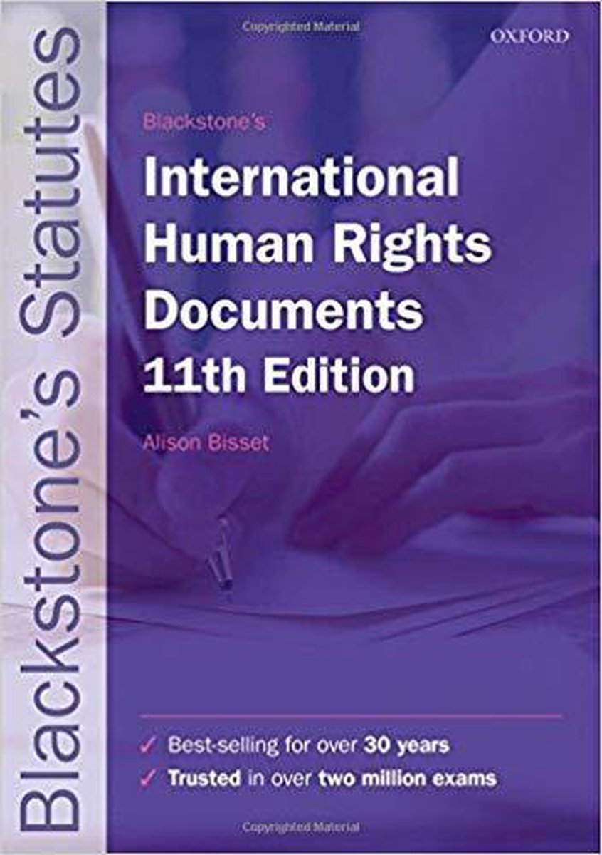 Blackstone's International Human Rights Documents - Bisset