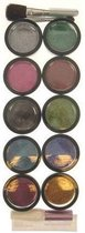 Glitterpoeder met Penseel en Lijm - 10 Kleuren