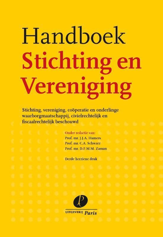 Boek cover Handboek Stichting en Vereniging van  (Hardcover)