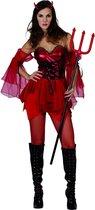 Duivel kostuum voor dames Halloween outfit - Verkleedkleding - Medium