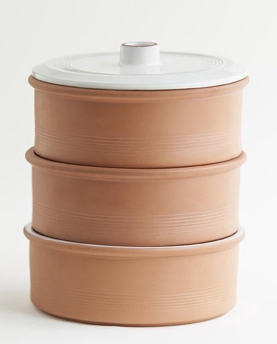 Point-Virgule - Kiemtoren - Terracotta - 3 Schalen