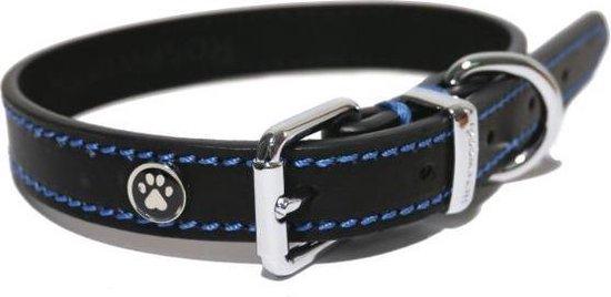 Rosewood Luxury Leather Halsband - Hond - Zwart - 3.8x46x56 cm