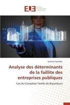 Analyse Des D terminants de la Faillite Des Entreprises Publiques