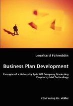 Business Plan Development- Example of a University Spin Off Company Marketing Plug-In Hybrid Technology
