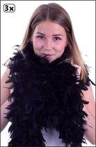 3x Boa zwart 180 cm. 150 gr.