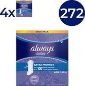 Always Dailies Fresh & Protect Large - Voordeelverpakking 272 Stuks - Inlegkruisjes