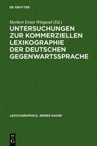 Untersuchungen zur kommerziellen Lexikographie der deutschen Gegenwartssprache. Band 2