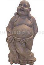 Lucky Boeddha beeld staand donkergrijs | GerichteKeuze