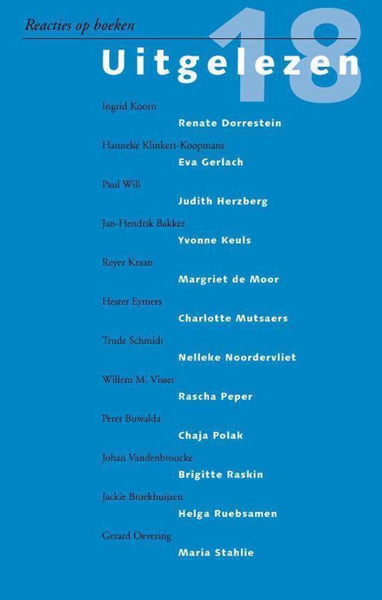 Cover van het boek 'Uitgelezen / 18 / druk 1'