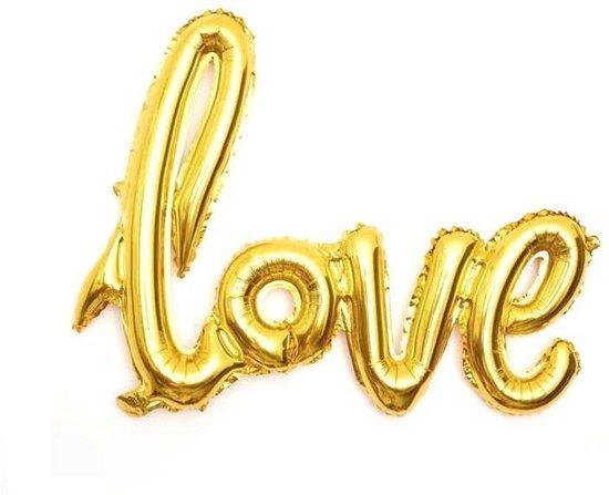 Foliballon LOVE goud 54x38