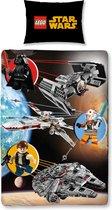 Disney Lego Star Wars - Dekbedovertrek - Eenpersoons - 140x200 cm - Multi