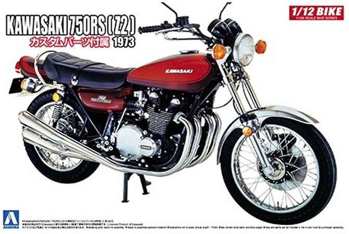 Kawasaki 750 RS Z2 - Aoshima modelbouw pakket - schaal 1:12