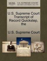 The U.S. Supreme Court Transcript of Record Quickstep