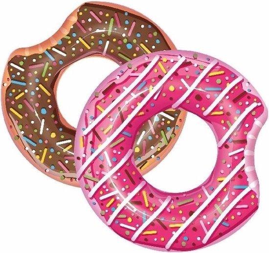 Opblaasbare chocolade donut 107 cm