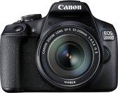 Canon EOS 2000D + 18-55mm IS + 75-300mm DC - Zwart