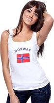 Witte dames tanktop Noorwegen M