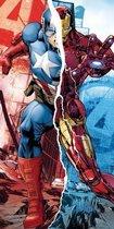 Strandlaken - The Avengers Captain America VS. Iron Man
