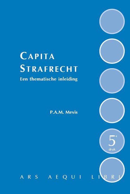 Boek cover Capita strafrecht van P.A.M. Mevis