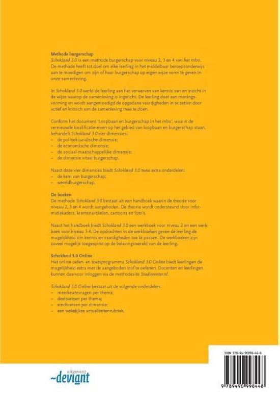 Schokland 3.0 Niveau 3-4 mbo Werkboek burgerschap - Jam Verwijlen |