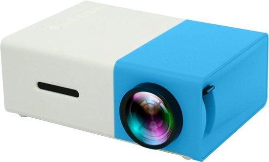 YG-300 Mini Beamer - 320 x 240 - USB - HDMI - Wit - Blauw