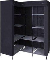 MaxxHome Opvouwbare Kledingkast - 170 x 126 cm - Zwart - Hoekmodel