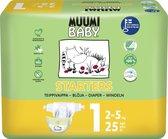 Eco Muumi Baby luiers maat 1 - 2-5 kg  - 25 stuks - ecologisch