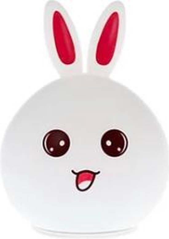 Bunny Nachtlampje Oplaadbaar | Konijn Nachtlamp | Rabbit Night Light | Siliconen Oplaadbare Nachtlamp | Kinderlamp | USB Rechargeable Night Light