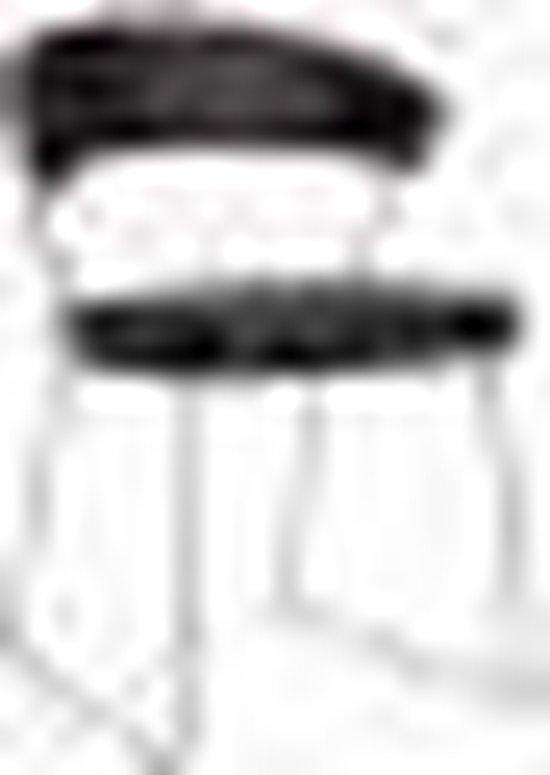 | New York stoel met slede leder