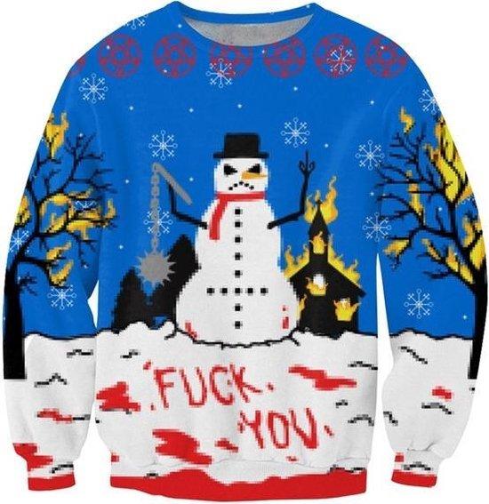 Fuck kerst! De anti kerst kersttrui Maat S