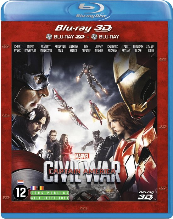 Speelfilm - Captain America: Civil War 3d - Movie
