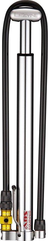 Lezyne Micro Floor Drive HPG - Minipomp - Aluminium - Presta/Schrader Ventiel - Zilver