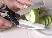 Clever Cutter - RVS - 2-In-1 Mes