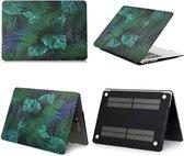 Macbook Case voor Macbook Air 13 inch (modellen t/m 2017) - Laptoptas - Hard Case - Tropische Bladeren