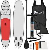 [in.tec]® Opblaasbaar SUP Board met accessoires - rood