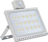 Profile LED Schijnwerper - Met bewegingssensor - 100W - Extra dun - Grijs