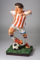 Voetballer - beeldje – sport – polyresin - sports – Guillermo Forchino – 11x11x20 cm