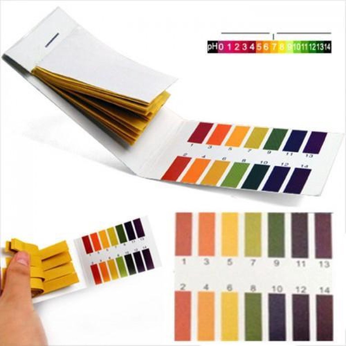Lakmoes Papier test strips PH 1-14